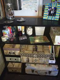 travel theme decor dorm storage decorative storage organization photo boxes cute