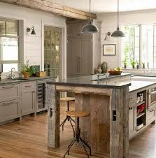 barnwood kitchen island barn wood kitchens rustic beam kitchen island from country