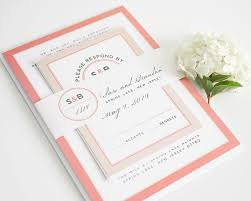 coral wedding invitations light coral wedding invitation chagne by shineinvitations