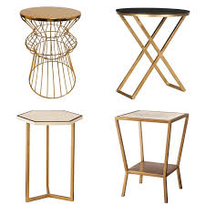 mid century modern accent table gold feathers adventures inspiration and other lovely things