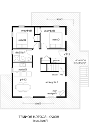 House Plans 2 Bedroom Home Design 2 Bedroom Bath Attached House Plan Simple Two Plans