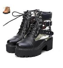 womens motorcycle boots australia combat boots camouflage sole platform shoes anti