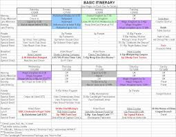 10 best images of travel itinerary spreadsheet family travel
