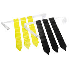 Black And Yellow Flag Black U0026 Yellow 36 Flags U0026 12 Belts Velcro Flag Football Set