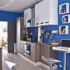 peinture leroy merlin cuisine cuisine moderne bleu électrique leroy merlin