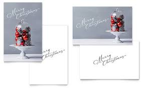christmas display greeting card template word u0026 publisher