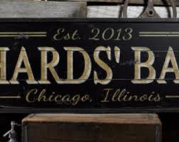 Personalized Home Decor Signs Custom Bar Sign Etsy