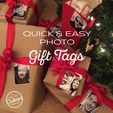 how to make diy photo gift tags my big fat cuban family