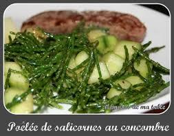 salicorne cuisine que faire avec des salicornes mémoires de ma table
