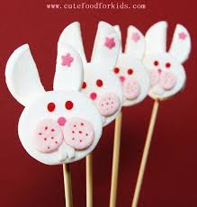 cute food for kids how to make marshmallow bunny pop