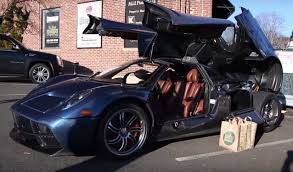 koenigsegg huayra going grocery shopping in a pagani huayra