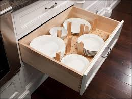 kitchen plate organizer for cabinet storage cabinet with doors