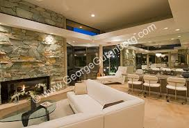 Family Room With Sectional Sofa Stock Photo Of Residential Interior Design Of Living And Family