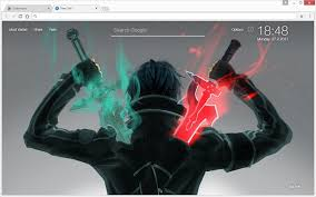 theme google chrome sword art online sword art online sao wallpapers hd new tab chrome web store