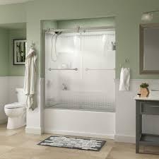 brushed nickel shower doors showers the home depot