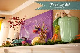 easter mantel decorations my easter mantel with world market