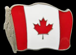 Canada Flag Colors Canada Flag Belt Buckle