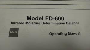 kett fd600 infrared moisture determination balance transamerican