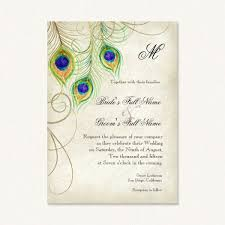 peacock wedding invitations vintage peacock wedding invitations with watercolor feathers