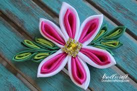 flower bow doodlecraft kanzashi flower bow