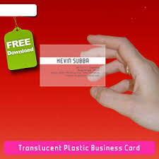 Translucent Plastic Business Cards Translucent Plastic Business Card Vector Freevectors Net