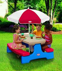 little tikes easy store picnic table buy little tikes easy store large picnic table online at low prices
