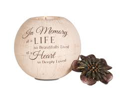 condolence gift sympathy gift candle in memory of a
