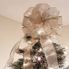 brown christmas tree large best christmas tree bow topper products on wanelo