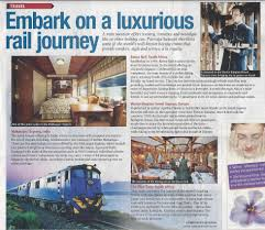 maharajas express in press and leading travel magazines