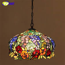 Stained Glass Light Fixtures Dining Room Fumat Stained Glass Pendant Light European Style Glass Lights