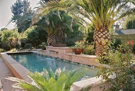 tropical landscaping ideas around pool landscape design
