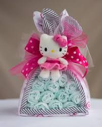 wild pink kitty diaper cake swaddlestar flickr diy