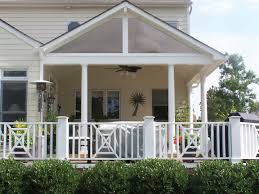 Deck Roof Ideas Home Decorating - impressing porch design mobile home white fence completed loversiq