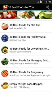 10 best foods for you android apps on google play