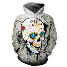 halloween hoodie unisex hd halloween sugar skull digital printing matching