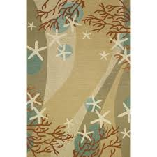 Coral Outdoor Rug by Nautical Area Rugs