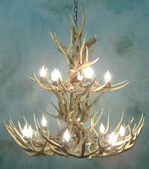How To Make Deer Antler Chandelier Pine Cone Mule Deer Antler Chandelier How To Make Deer Antler