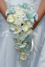 Blue Wedding Bouquets Shop Beautiful Ivory U0026 Blue Bridal Bouquet W Orchids Roses
