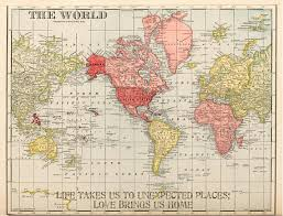 antique map world vintage 1907 travel map of world world map vintage map
