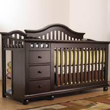 Espresso Convertible Crib by Convertible Crib With Changing Table Shelby Knox