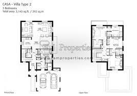 3 Bedroom Villa Floor Plans by Floor Plans Arabian Ranches 2 Dubai Land By Emaar