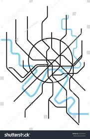 Moscow Metro Map by Moscow Metro Map Stock Vector 272341835 Shutterstock
