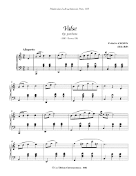 waltz in a minor b 150 chopin frédéric imslp petrucci music