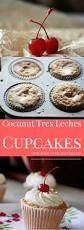 tres leches cupcakes with coconut whipped cream mind over batter