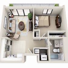 small house floorplans beautiful 3d small house floor plans one bedroom on budget home