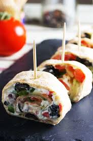 cuisine appetizer tortilla pinwheels with scrummy