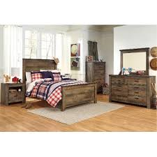 full size bedroom rustic casual contemporary 6 piece full bedroom set trinell rc