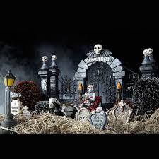 miniature halloween graveyard