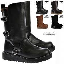 black biker boots rocket dog jed biker boots black pu womens from onlineshoe uk