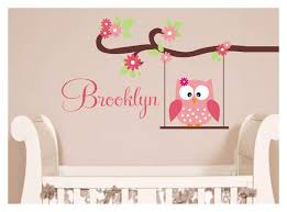 Monogram Wall Decals For Nursery Owl Decal Monogram Childrens Wall Decals Nursery Wall Decals
